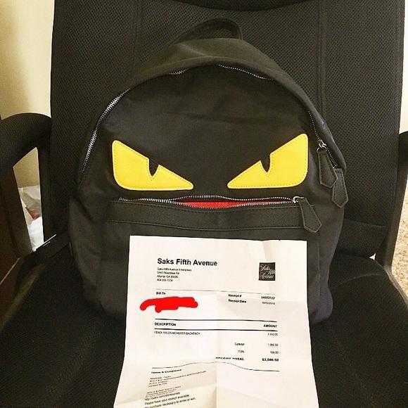 6a3e9d7b74a Fendi Bags | Monster Bug Eye Designer Backpack Bag | Poshmark